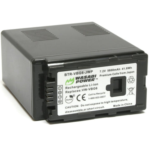 Panasonic VW-VBG6 Battery by Wasabi Power