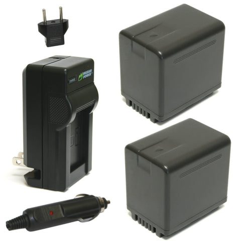Panasonic VW-VBT380 Battery (2-Pack) and Charger by Wasabi Power