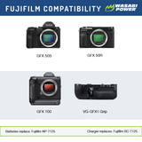 Fujifilm NP-T125 Battery (2-Pack) and Dual Charger by Wasabi Power
