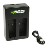 Wasabi Power GoPro MAX Battery Charger (Dual USB) for GoPro ACDBD-001, ACBAT-001