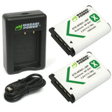 Sony NP-BX1, NP-BX1/M8 Battery (2-Pack) and Dual Charger by Wasabi Power