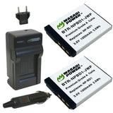 Sony NP-BD1, NP-FD1 Battery (2-Pack) and Charger by Wasabi Power