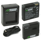 YI Action Camera Battery (2-Pack) and Dual Charger by Wasabi Power