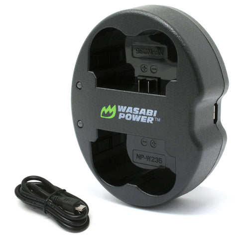 Wasabi Power Dual USB Battery Charger for Fujifilm NP-W235