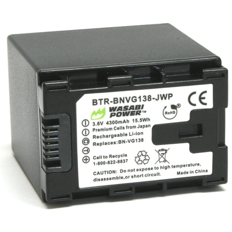 JVC BN-VG138 Battery by Wasabi Power