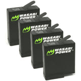 GoPro HERO5/6/7/8, HERO 2018 Battery (4-Pack) by Wasabi Power