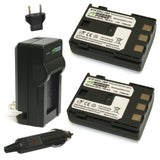 Canon NB-2L, NB-2LH, BP-2L5, BP-2LH Battery (2-Pack) and Charger by Wasabi Power