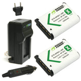 Sony NP-BX1, NP-BX1/M8 Battery (2-Pack) and Charger by Wasabi Power