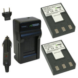 Canon NB-1L, NB-1LH Battery (2-Pack) and Charger by Wasabi Power