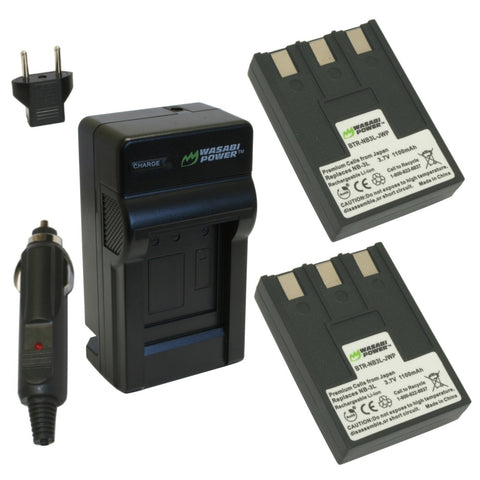 Canon NB-3L Battery (2-Pack) and Charger by Wasabi Power
