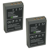 Olympus BLS-5, BLS-50, PS-BLS5 Battery (2-Pack) by Wasabi Power