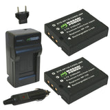 Casio NP-130, NP-130A Battery (2-Pack) and Charger by Wasabi Power