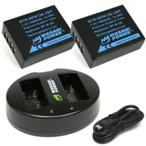 Fujifilm NP-W126, NP-W126S Battery (2-Pack) and Dual Charger by Wasabi Power