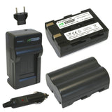 Samsung SLB-1674 Battery (2-Pack) and Charger by Wasabi Power