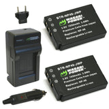 Fujifilm NP-48 Battery (2-Pack) and Charger by Wasabi Power