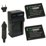 Samsung SLB-07, SLB-07A, SLB-07B Battery (2-Pack) and Charger by Wasabi Power