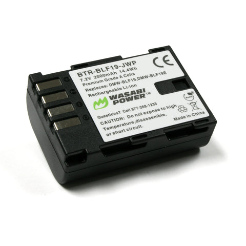 Panasonic DMW-BLF19 Battery by Wasabi Power