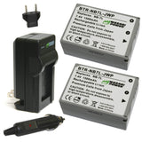 Canon NB-7L Battery (2-Pack) and Charger by Wasabi Power