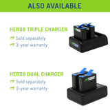 Wasabi Power Battery for GoPro HERO8 Black (All Features Available), HERO7 Black, HERO6 Black, HERO5 Black, HERO 2018