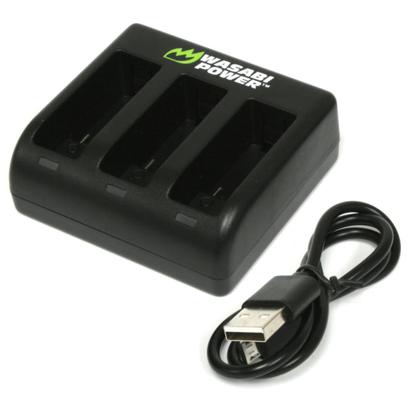 GoPro HERO9 Black Triple USB Charger by Wasabi Power