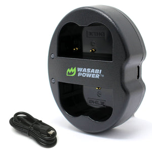 Nikon EN-EL3e Dual Charger by Wasabi Power