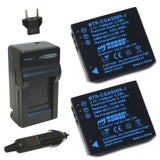 Panasonic CGA-S005, DMW-BCC12 Battery (2-Pack) and Charger by Wasabi Power