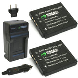 Fujifilm NP-50, BC-50, BC-45W Battery (2-Pack) and Charger by Wasabi Power