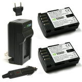 Wasabi Power Battery (2-Pack) and Charger for Panasonic DMW-BLF19