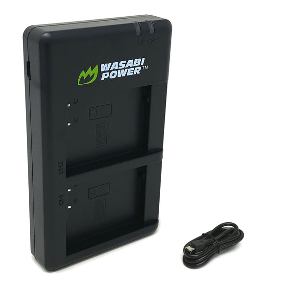 Leica BP-DC12 Micro USB Dual Battery Charger by Wasabi Power