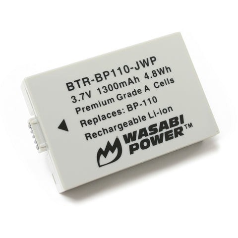 Canon BP-110 (Fully Decoded) Battery by Wasabi Power