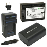 Sony NP-FV30, NP-FV40, NP-FV50 Battery (2-Pack) and Charger by Wasabi Power