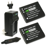 Wasabi Power Battery (2-Pack) and Charger for Olympus LI-90B, LI-92B