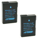 Nikon EN-EL14, EN-EL14a Battery (2-Pack) by Wasabi Power