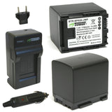 Wasabi Power Battery (2-Pack) and Charger for Canon BP-820 and Canon VIXIA HF G30, XA20, XA25