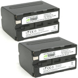 Sony NP-F975, NP-F970, NP-F960, NP-F950 (L Series) Battery (2-Pack) by Wasabi Power