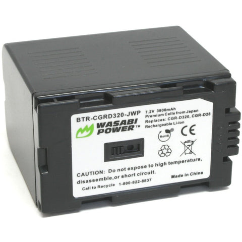 Panasonic CGR-D08, CGR-D14, CGR-D16, CGR-D28, CGR-D120, CGR-D220, CGR-D320 Battery by Wasabi Power