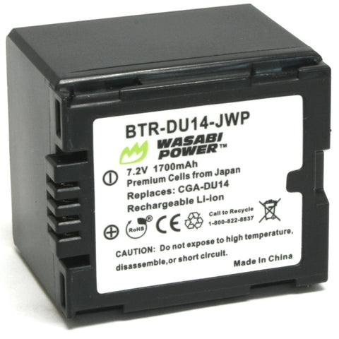 Panasonic CGA-DU12, CGA-DU14, VW-VBD120, VW-VBD140 Battery by Wasabi Power