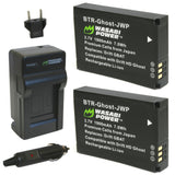 Drift GBAT and Drift HD Ghost, Ghost-S Battery (2-Pack) and Charger by Wasabi Power