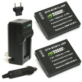 Wasabi Power Battery (2-Pack) and Charger for Panasonic DMW-BCM13