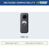 Insta360 ONE X2 Battery by Wasabi Power