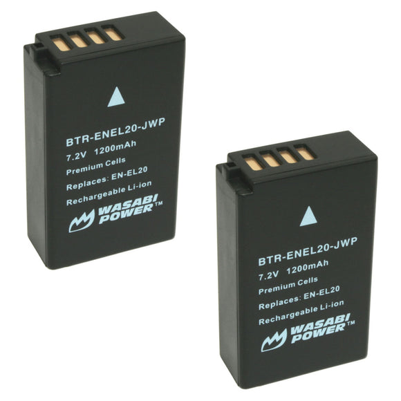 Nikon EN-EL20, EN-EL20a Battery (2-Pack) by Wasabi Power