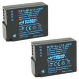 Panasonic DMW-BLC12 Battery (2-Pack) by Wasabi Power