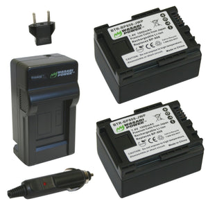 Canon BP-807, BP-808, BP-809 Battery (2-Pack) and Charger by Wasabi Power