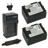 Wasabi Power Battery (2-Pack) and Charger for Canon BP-807, BP-808, BP-809