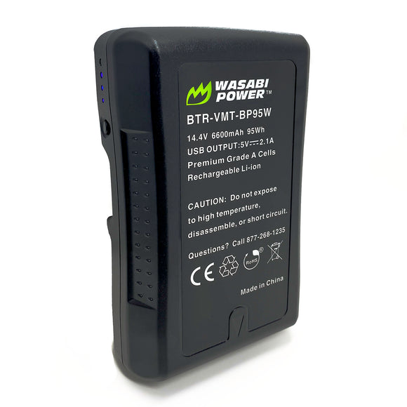 V-Mount Battery (14.4V, 6600mAh, 95Wh) by Wasabi Power
