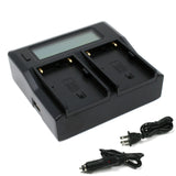 Sony BP-U30, BP-U60, BP-U90 Dual Charger by Wasabi Power