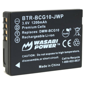 Panasonic DMW-BCG10 Battery by Wasabi Power