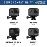 Wasabi Power Battery (2-Pack) and Dual Charger for GoPro HERO7 Black, HERO6 Black, HERO5 Black, HERO (2018 Model)