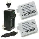 Canon LP-E5 Battery (2-Pack) and Charger by Wasabi Power