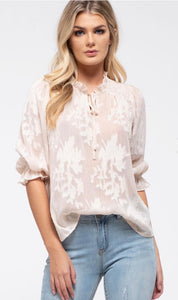Floral shadow blouse